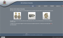 National Association of Goldsmiths Certificate of Ownership application. 				<p>Online application that allows jewellers to create detailed insurance certificates for jewellery and antique items.